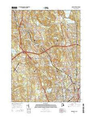 Pawtucket Rhode Island Current topographic map, 1:24000 scale, 7.5 X 7.5 Minute, Year 2015 from Rhode Island Maps Store