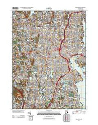 Providence Rhode Island Historical topographic map, 1:24000 scale, 7.5 X 7.5 Minute, Year 2012
