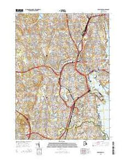 Providence Rhode Island Current topographic map, 1:24000 scale, 7.5 X 7.5 Minute, Year 2015 from Rhode Island Maps Store