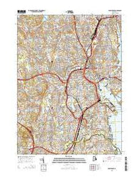 Providence Rhode Island Current topographic map, 1:24000 scale, 7.5 X 7.5 Minute, Year 2015