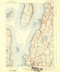 Prudence Island Rhode Island Historical topographic map, 1:31680 scale, 7.5 X 7.5 Minute, Year 1942