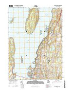 Prudence Island Rhode Island Current topographic map, 1:24000 scale, 7.5 X 7.5 Minute, Year 2015 from Rhode Island Map Store
