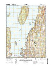 Prudence Island Rhode Island Current topographic map, 1:24000 scale, 7.5 X 7.5 Minute, Year 2015 from Rhode Island Maps Store