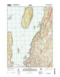 Prudence Island Rhode Island Current topographic map, 1:24000 scale, 7.5 X 7.5 Minute, Year 2015