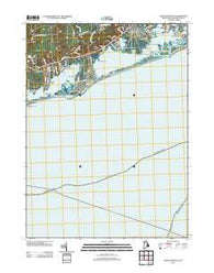 Quonochontaug Rhode Island Historical topographic map, 1:24000 scale, 7.5 X 7.5 Minute, Year 2012