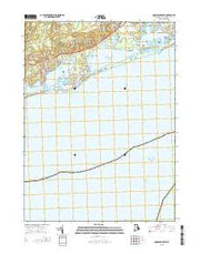 Quonochontaug Rhode Island Current topographic map, 1:24000 scale, 7.5 X 7.5 Minute, Year 2015 from Rhode Island Maps Store