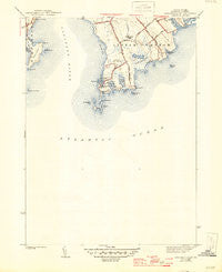Sakonnet Point Rhode Island Historical topographic map, 1:31680 scale, 7.5 X 7.5 Minute, Year 1942