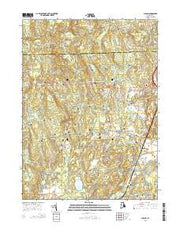 Slocum Rhode Island Current topographic map, 1:24000 scale, 7.5 X 7.5 Minute, Year 2015 from Rhode Island Maps Store