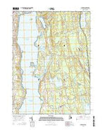 Tiverton Rhode Island Current topographic map, 1:24000 scale, 7.5 X 7.5 Minute, Year 2015 from Rhode Island Map Store