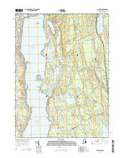 Tiverton Rhode Island Current topographic map, 1:24000 scale, 7.5 X 7.5 Minute, Year 2015 from Rhode Island Maps Store