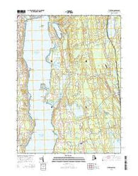 Tiverton Rhode Island Current topographic map, 1:24000 scale, 7.5 X 7.5 Minute, Year 2015