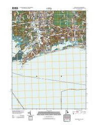Watch Hill Rhode Island Historical topographic map, 1:24000 scale, 7.5 X 7.5 Minute, Year 2012