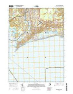 Watch Hill Rhode Island Current topographic map, 1:24000 scale, 7.5 X 7.5 Minute, Year 2015 from Rhode Island Map Store