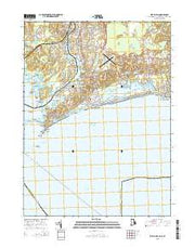 Watch Hill Rhode Island Current topographic map, 1:24000 scale, 7.5 X 7.5 Minute, Year 2015 from Rhode Island Maps Store
