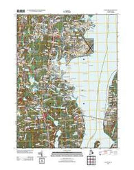 Wickford Rhode Island Historical topographic map, 1:24000 scale, 7.5 X 7.5 Minute, Year 2012