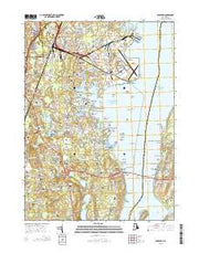 Wickford Rhode Island Current topographic map, 1:24000 scale, 7.5 X 7.5 Minute, Year 2015 from Rhode Island Maps Store