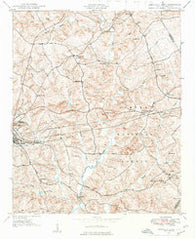Abbeville East South Carolina Historical topographic map, 1:24000 scale, 7.5 X 7.5 Minute, Year 1948
