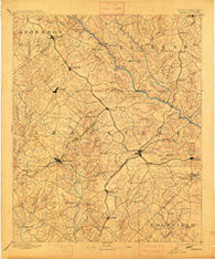 Abbeville South Carolina Historical topographic map, 1:125000 scale, 30 X 30 Minute, Year 1892