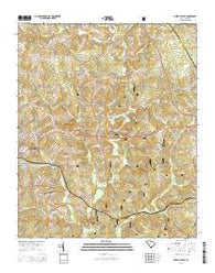 Abbeville East South Carolina Current topographic map, 1:24000 scale, 7.5 X 7.5 Minute, Year 2014