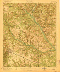 Aiken South Carolina Historical topographic map, 1:62500 scale, 15 X 15 Minute, Year 1921