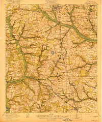 Allendale South Carolina Historical topographic map, 1:62500 scale, 15 X 15 Minute, Year 1919