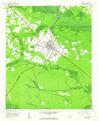 Andrews South Carolina Historical topographic map, 1:24000 scale, 7.5 X 7.5 Minute, Year 1943