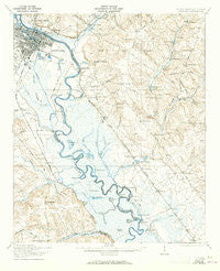 Augusta Georgia Historical topographic map, 1:62500 scale, 15 X 15 Minute, Year 1921