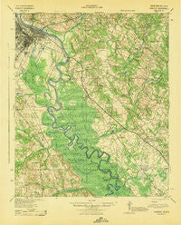 Augusta Georgia Historical topographic map, 1:62500 scale, 15 X 15 Minute, Year 1943