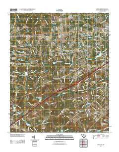 Barr Lake South Carolina Historical topographic map, 1:24000 scale, 7.5 X 7.5 Minute, Year 2011