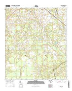 Barton South Carolina Current topographic map, 1:24000 scale, 7.5 X 7.5 Minute, Year 2014 from South Carolina Map Store