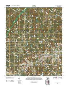 Batesburg South Carolina Historical topographic map, 1:24000 scale, 7.5 X 7.5 Minute, Year 2011