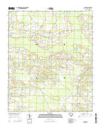 Bayboro South Carolina Current topographic map, 1:24000 scale, 7.5 X 7.5 Minute, Year 2014 from South Carolina Map Store