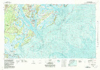 Beaufort South Carolina Historical topographic map, 1:100000 scale, 30 X 60 Minute, Year 1978