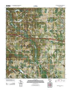 Bishopville West South Carolina Historical topographic map, 1:24000 scale, 7.5 X 7.5 Minute, Year 2011