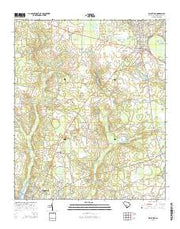 Blackville South Carolina Current topographic map, 1:24000 scale, 7.5 X 7.5 Minute, Year 2014 from South Carolina Maps Store