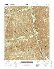 Blair South Carolina Current topographic map, 1:24000 scale, 7.5 X 7.5 Minute, Year 2014 from South Carolina Maps Store