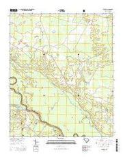 Blakely South Carolina Current topographic map, 1:24000 scale, 7.5 X 7.5 Minute, Year 2014 from South Carolina Maps Store