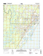 Brookgreen South Carolina Current topographic map, 1:24000 scale, 7.5 X 7.5 Minute, Year 2014 from South Carolina Map Store