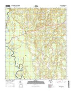Bull Pond South Carolina Current topographic map, 1:24000 scale, 7.5 X 7.5 Minute, Year 2014 from South Carolina Map Store