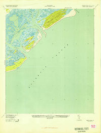 Capers Island South Carolina Historical topographic map, 1:24000 scale, 7.5 X 7.5 Minute, Year 1943