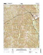 Catawba South Carolina Current topographic map, 1:24000 scale, 7.5 X 7.5 Minute, Year 2014 from South Carolina Map Store