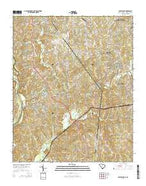 Catawba NE South Carolina Current topographic map, 1:24000 scale, 7.5 X 7.5 Minute, Year 2014 from South Carolina Map Store
