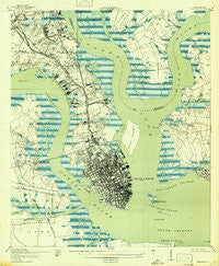 Charleston South Carolina Historical topographic map, 1:21120 scale, 7.5 X 7.5 Minute, Year 1919