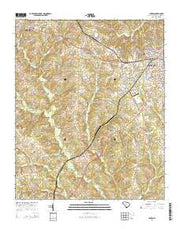 Clinton South Carolina Current topographic map, 1:24000 scale, 7.5 X 7.5 Minute, Year 2014 from South Carolina Maps Store
