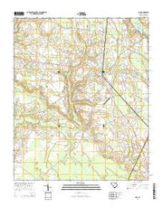 Clio South Carolina Current topographic map, 1:24000 scale, 7.5 X 7.5 Minute, Year 2014 from South Carolina Maps Store