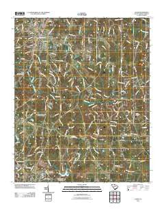 Clover South Carolina Historical topographic map, 1:24000 scale, 7.5 X 7.5 Minute, Year 2011