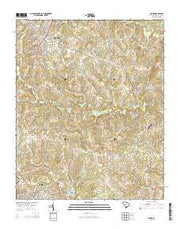 Clover South Carolina Current topographic map, 1:24000 scale, 7.5 X 7.5 Minute, Year 2014 from South Carolina Maps Store