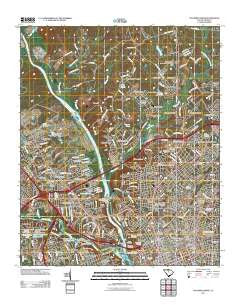 Columbia North South Carolina Historical topographic map, 1:24000 scale, 7.5 X 7.5 Minute, Year 2011