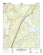Coosawhatchie South Carolina Current topographic map, 1:24000 scale, 7.5 X 7.5 Minute, Year 2014 from South Carolina Map Store