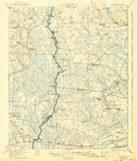 Cottageville South Carolina Historical topographic map, 1:62500 scale, 15 X 15 Minute, Year 1918